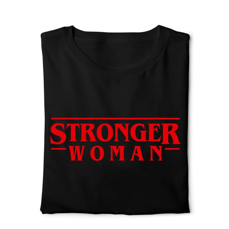 Stronger Woman Digital Graphics Basic T-shirt black - POD