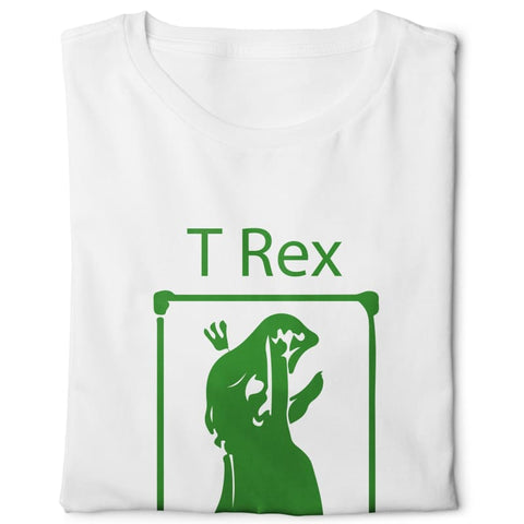 T-rex Hates Pull Ups - Digital Graphics Basic T-shirt White - POD