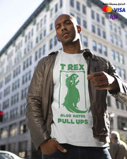 T-rex Hates Pull Ups - Digital Graphics Basic T-shirt White