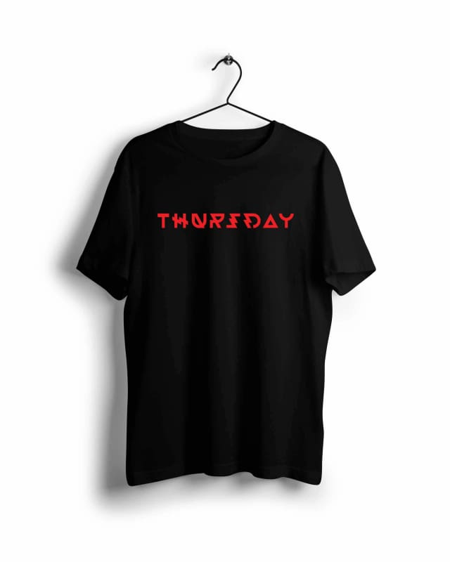 Thursday - Digital Graphics Basic T-shirt Black - POD