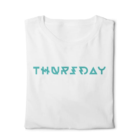 Thursday - Digital Graphics Basic T-shirt White - POD