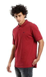 Turn Down Polo T-shirt - Burgundy - male polo shirts