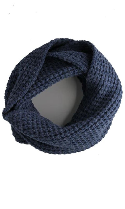 Unique Acrylic Solid Scarf - Blue - women scarves & snoods