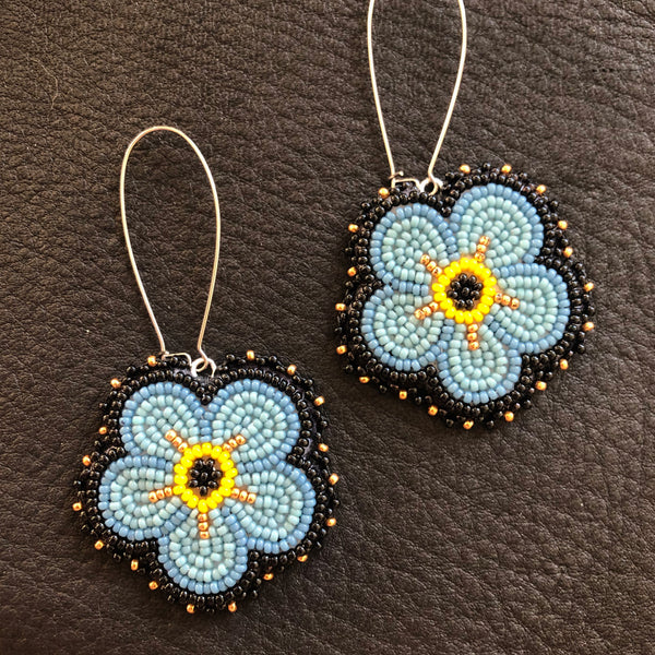 forget me not earrings raffle ticket