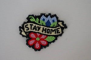 'stay home' pin