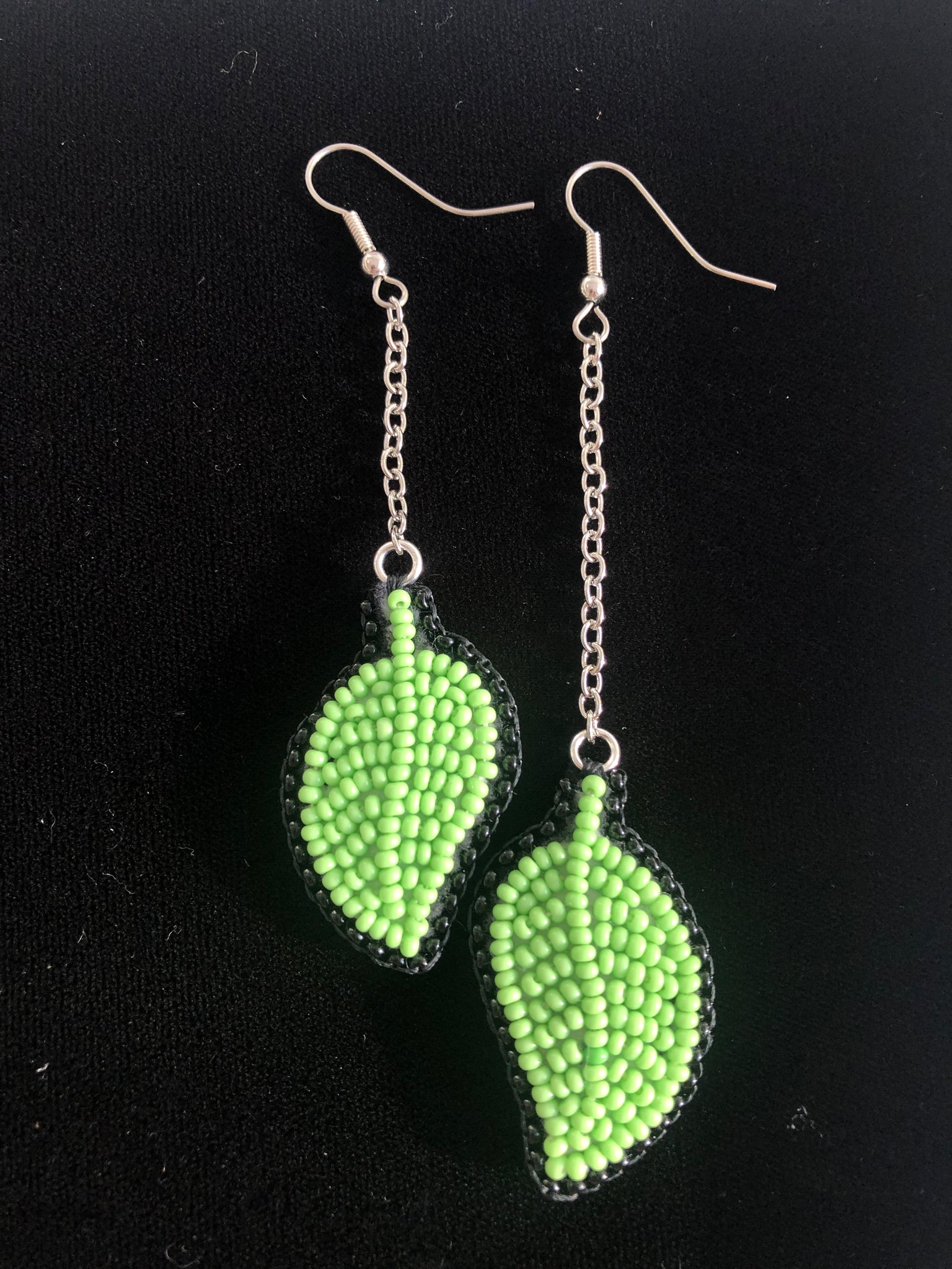 dangly leaves earrings