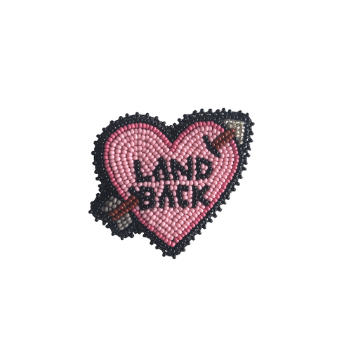 'land back' sticker