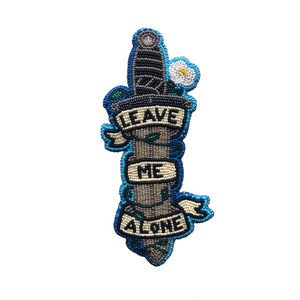 'leave me alone' sticker
