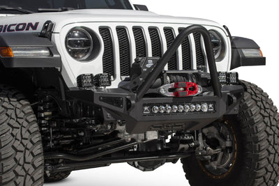 Addictive Desert Designs Rock Fighter Stinger Winch Mount Front Bumper - Jeep Gladiator (2020)-Truck Brigade