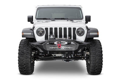 Addictive Desert Designs Stealth Fighter with Hoop and Winch Mount Front Bumper - Jeep Gladiator (2020)-Truck Brigade