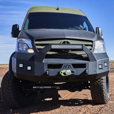 Backwoods Adventure Mods Nomad Series Front Bumper with Bull Bar - Mercedes Sprinter (2014-2018)-Truck Brigade