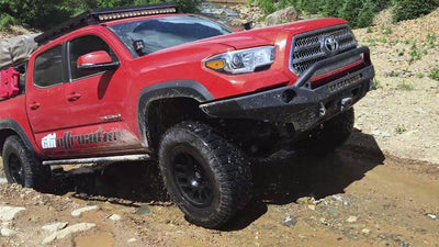 CBI Offroad Classic Bolt-On Rock Sliders - Toyota Tacoma (1996-2004)-Truck Brigade