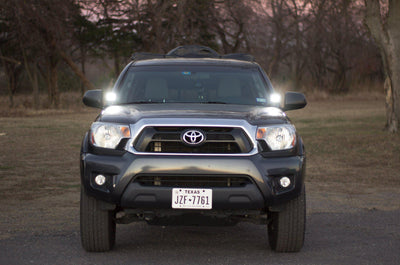 Rago Fabrication Stainless Ditch Light Brackets - Toyota Tacoma (2005-2015)-Truck Brigade