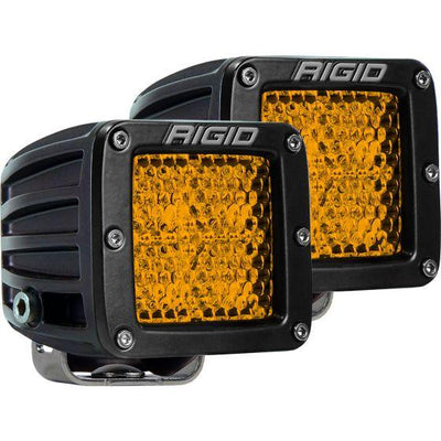 RIGID Industries D-Series PRO Lights (Pair - Black Housing Amber Light)-Truck Brigade
