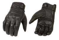 Milwaukee Leather Men's Premium Leather Perforated Cruiser Gloves MG7500 (L)