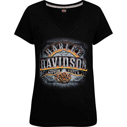 Harley-Davidson Women's V-Neck T-Shirt - Underlight | Aviano Air Base MD