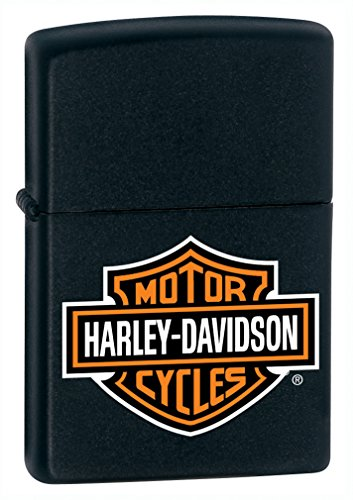 Zippo Harley-Davidson Logo Black Matte Pocket Lighter