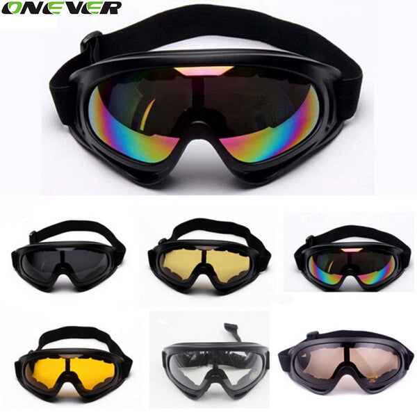 UV400 Windproof Snowmobile Bicycle Motorcycle ATV Dirt Bike Off Road Racing X400 Goggles Motorcycle Glasses For Outdoor Riding