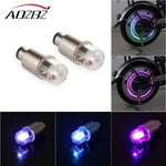 AOZBZ 2pcs Colorful Neon Tire Wheel Valve LED Light Lamp for Car Bike Bicycle Motorcycle High-quality Car-styling