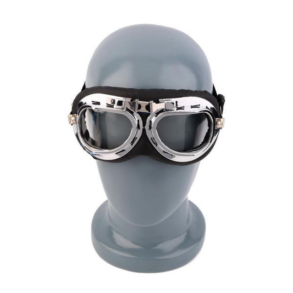 Anti-UV Vintage Motorcycle Goggles Pilot Biker Helmet Sunglasses Scooter Cruiser ATV Glasses Off-Road Motocross Racing Eyewear