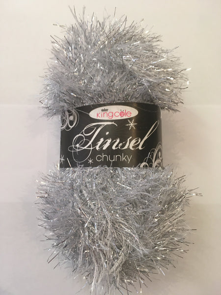 King Cole Tinsel Chunky 206 Silver