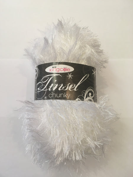 King Cole Tinsel Chunky 204 White