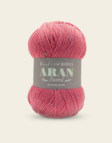 Hayfield Bonus Aran Tweed 638 Raspberry Tweed