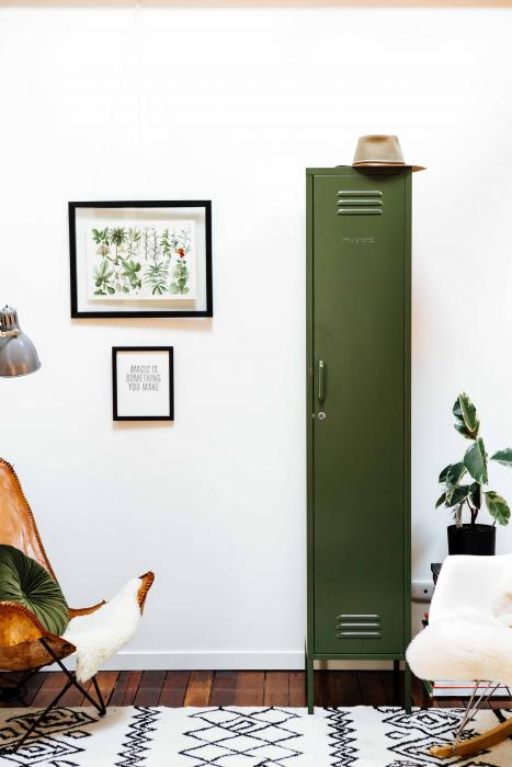 mustard made locker - 'the skinny' olive