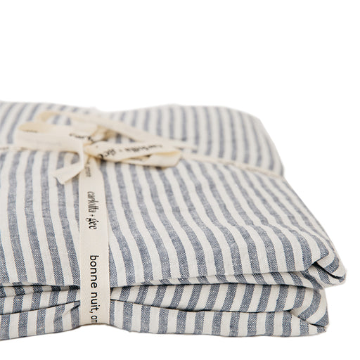 carlotta + gee - duvet cover - blue stripes