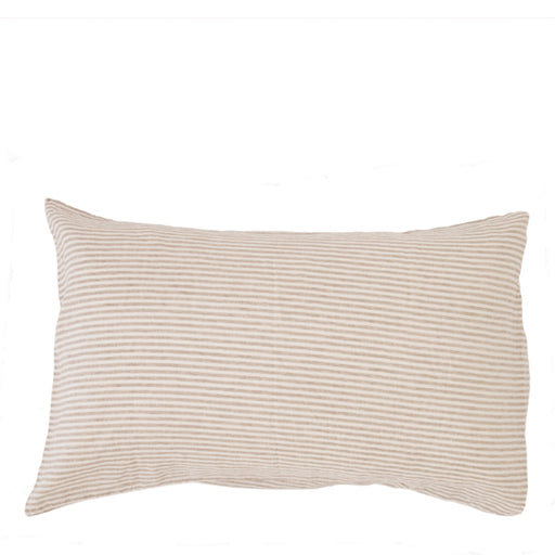 carlotta + gee - standard pillowslip set - natural stripes