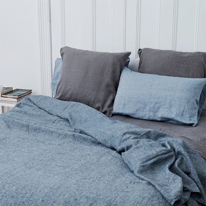 carlotta + gee - duvet cover - denim