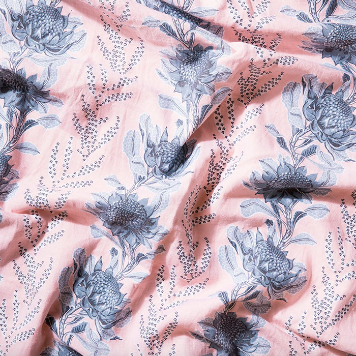 utopia goods - fabric imperial waratah pink
