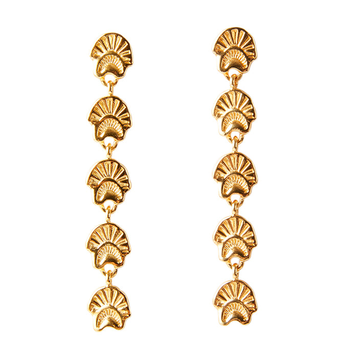 lucy folk - amulet of the sun earring - yellow gold plate