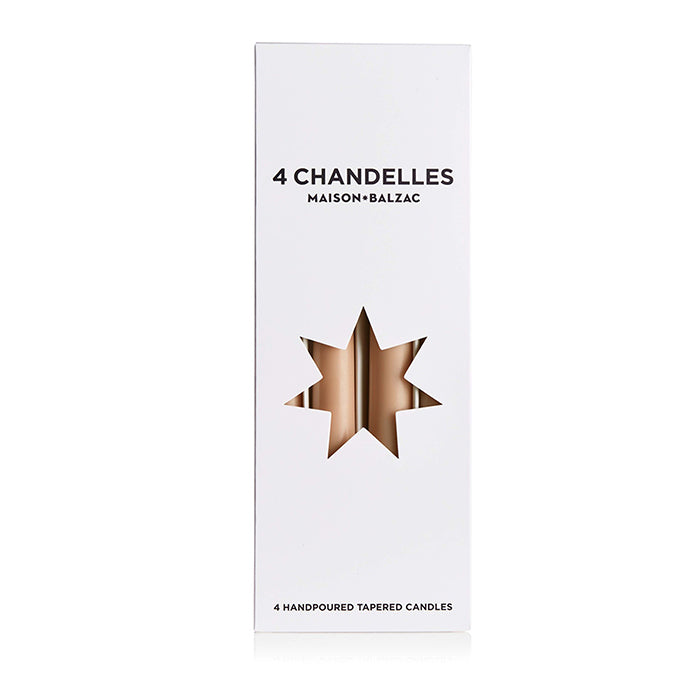 maison balzac candle - 4 chandelles sable