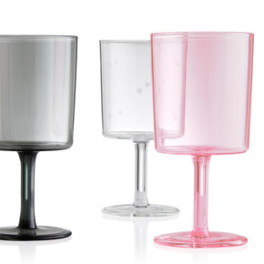 maison balzac wine glass - pink