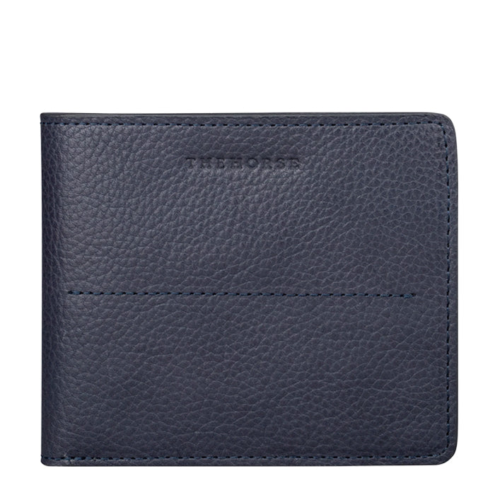 the horse barney leather wallet - navy