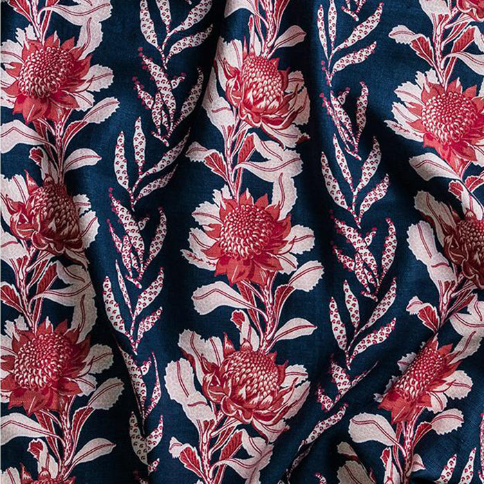 utopia goods - fabric imperial waratah indigo