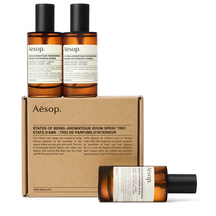 aesop home - states of being: aromatique room spray trio