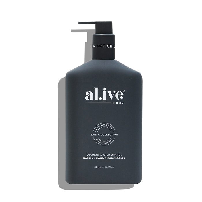 al.ive body -  coconut & wild orange hand & body lotion