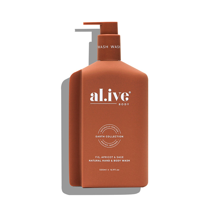 al.ive body -  fig, apricot & sage hand & body wash