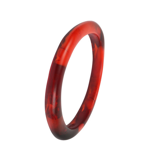 dinosaur designs classic resin wishbone bangle - blood orange