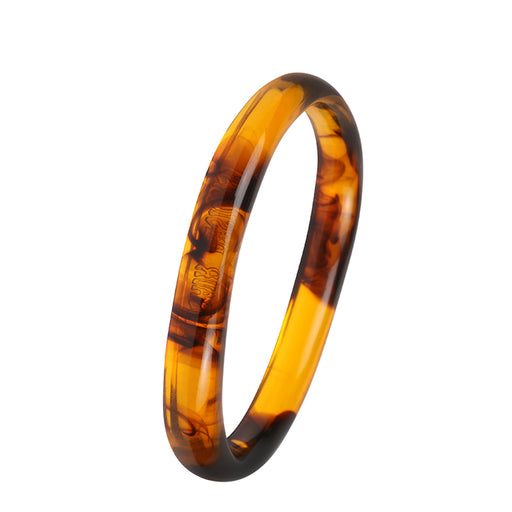 dinosaur designs classic resin wishbone bangle - tortoise