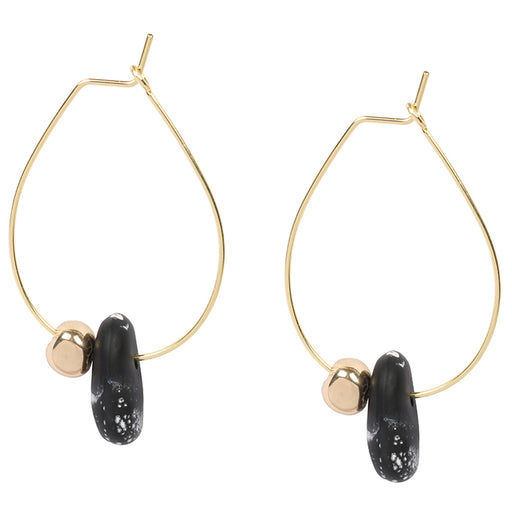 dinosaur designs earring - joie de vivre hoop earrings - black marble