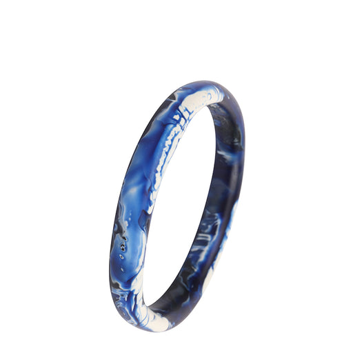 dinosaur designs wishbone bangle - lapis