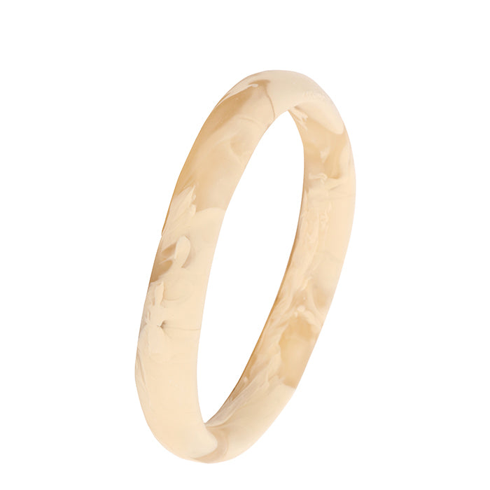 dinosaur designs classic resin wishbone bangle - caramel