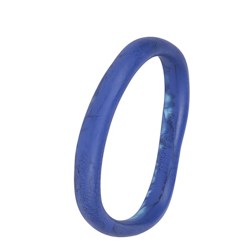 dinosaur designs classic wishbone bangle - cobalt