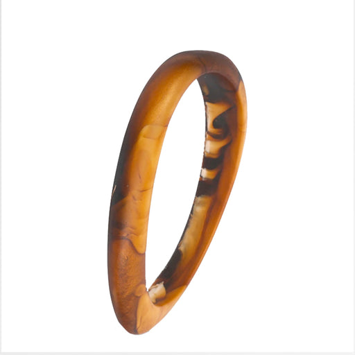 dinosaur designs classic resin wishbone bangle - dark horn