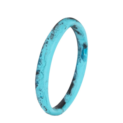 dinosaur designs classic resin wishbone bangle - dark turquoise