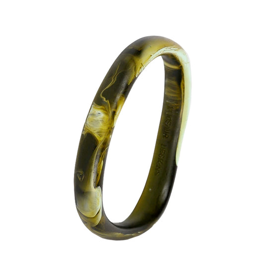 dinosaur designs classic resin wishbone bangle - malachite