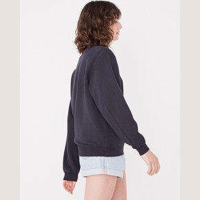 assembly label - womens logo fleece - true navy/white